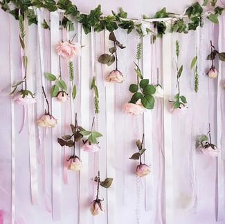 Nursery flower wall hanging