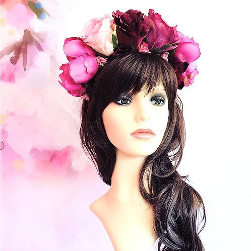 Rose & Peony Flower Crown