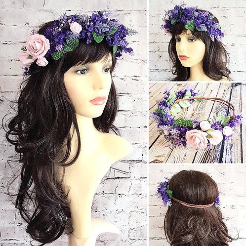 Rose & Lavender Flower Halo