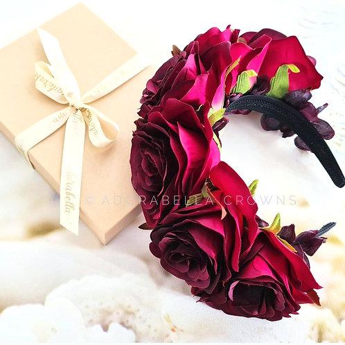 Red Rose Floral Headdress