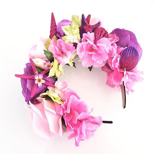 Starfish & Flowers crown