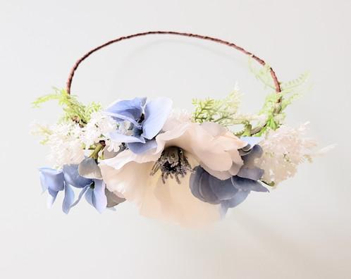 White Poppy Flower Halo