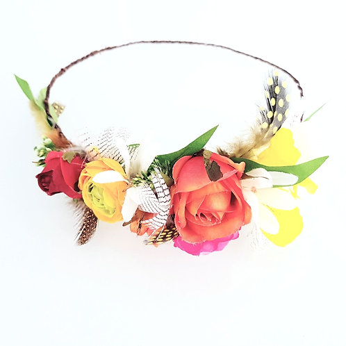 Feathers & Flowers Crown