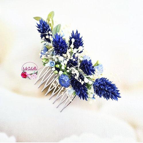 Blue Grass Floral Comb