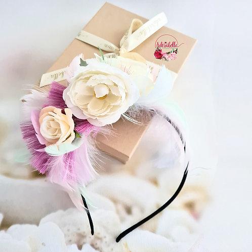 Pink Tassel Flower Crown