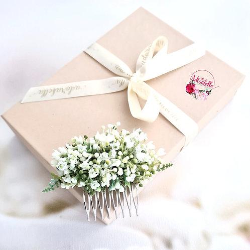 White Gypsophila Floral Comb II