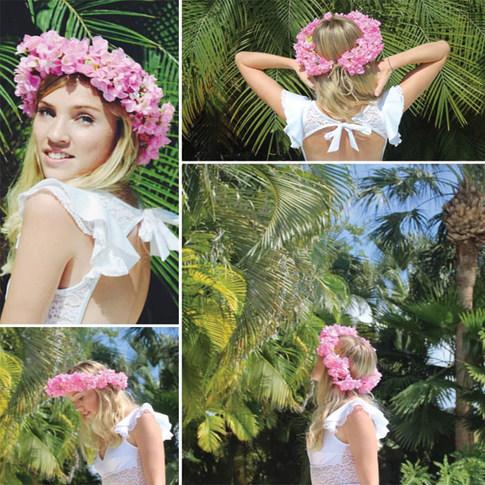 Pink flower crown Cayman Islands
