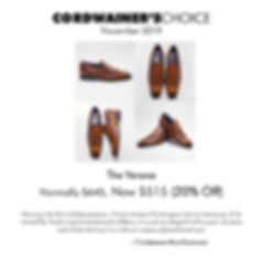 The Cordwainer's Choice (November 2019).