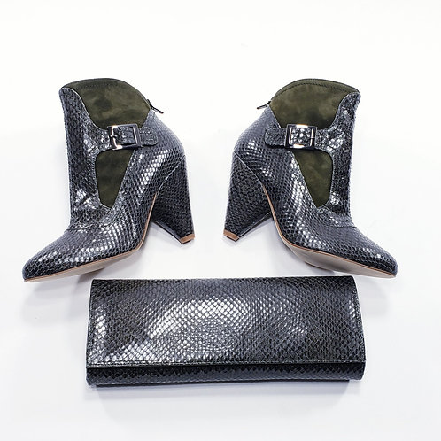 Alessandra Bootie (Size 38) & Miranda Gusset Clutch (Small)