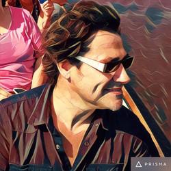 Marc Vesseur op de fluisterboot