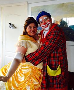Clown Magic Marky met een prinses