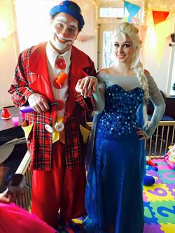 clown Magic Marky with Elsa