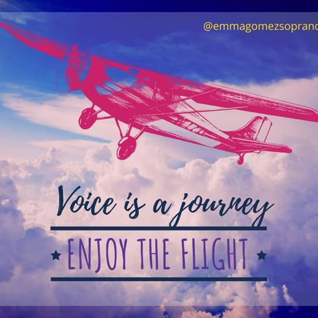El viaje de tu voz.. ¡Disfruta el vuelo!