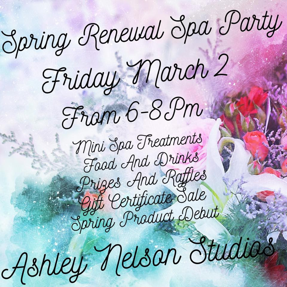 Spring Renewal Spa Party announcement