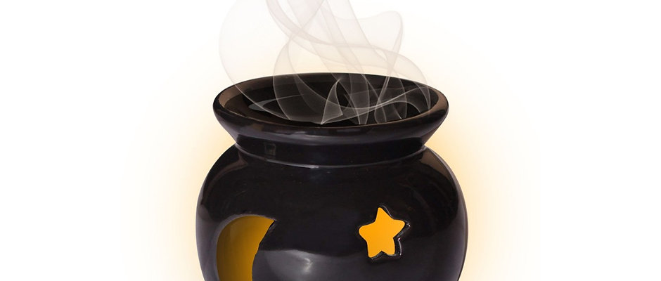 Aromatherapy Oil Burner- Stars & Moon