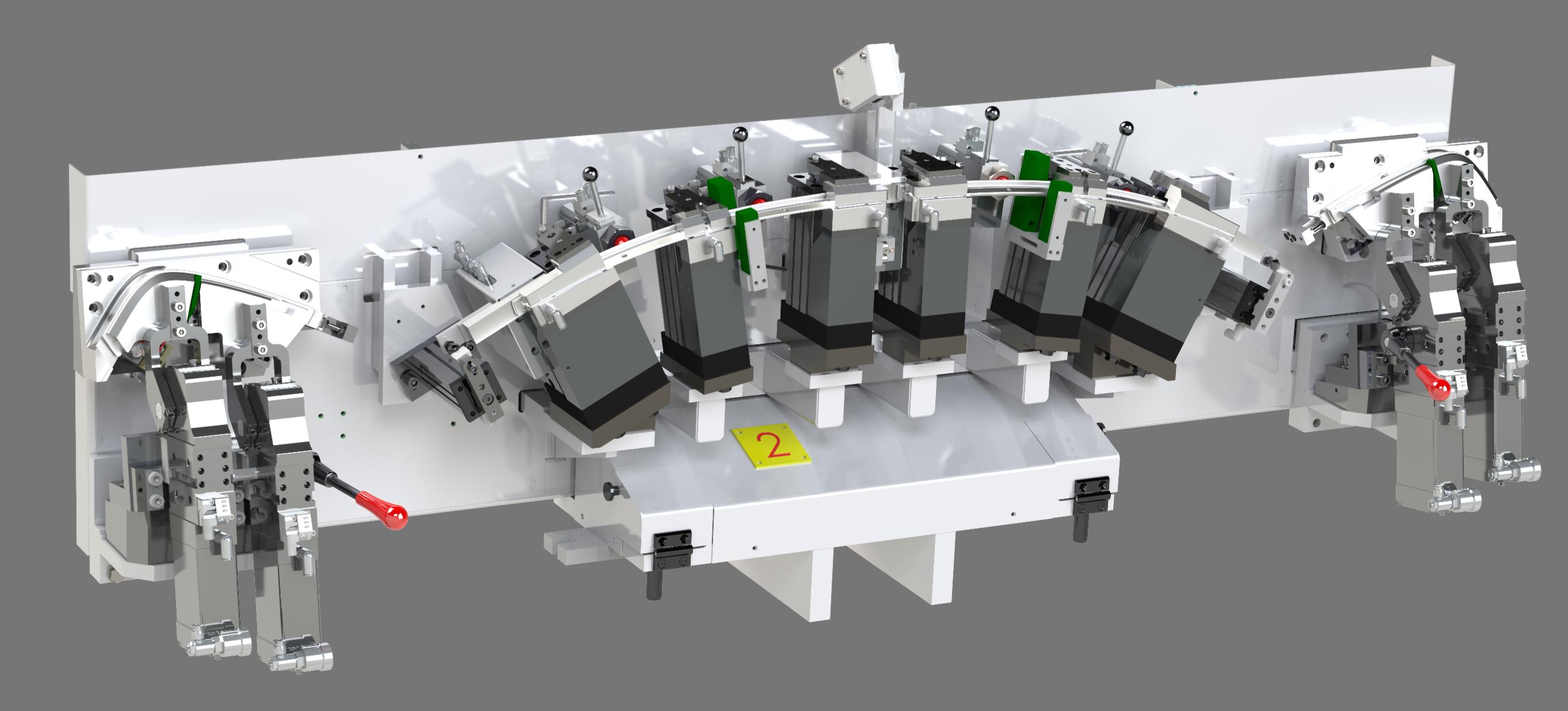 Combi 3-fold milling fixture