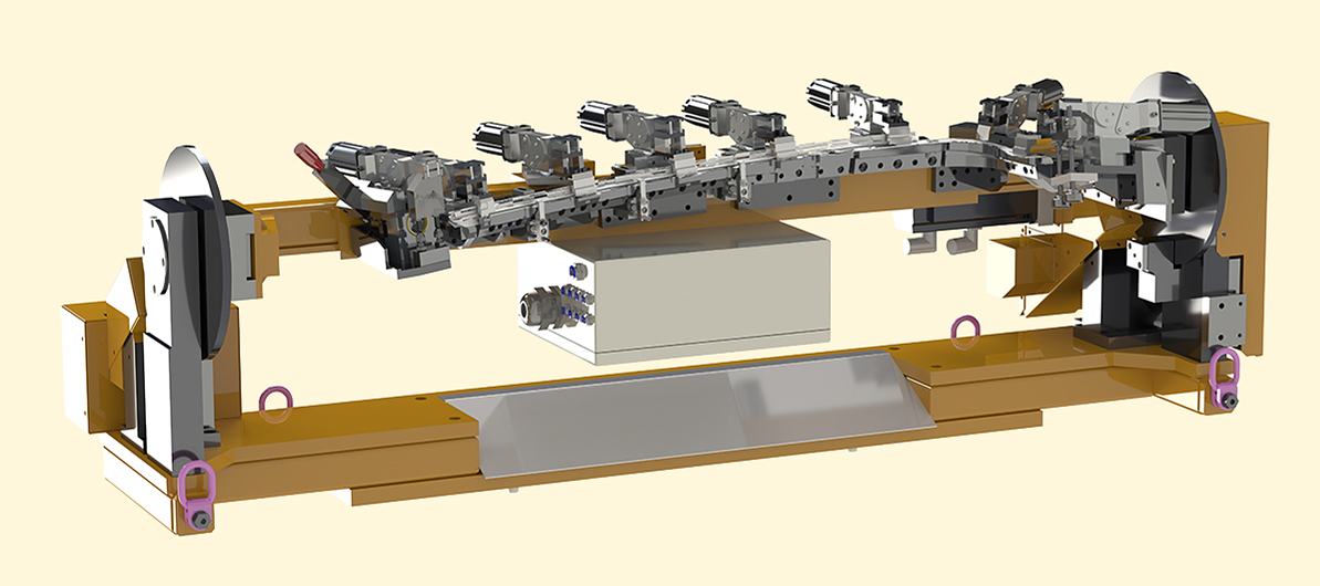 CNC-controlled milling fixture
