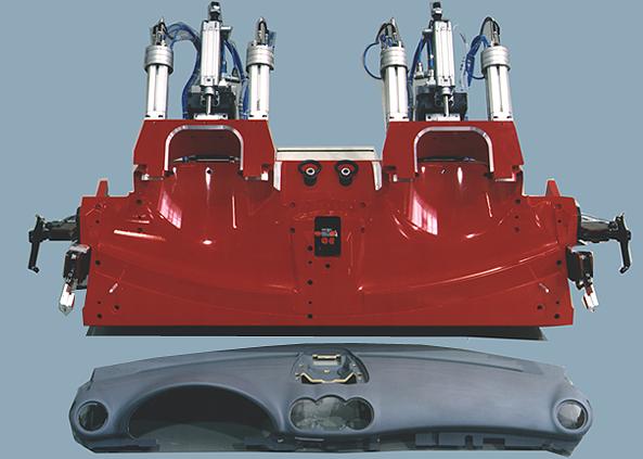 Instrument panel tensioning fixture