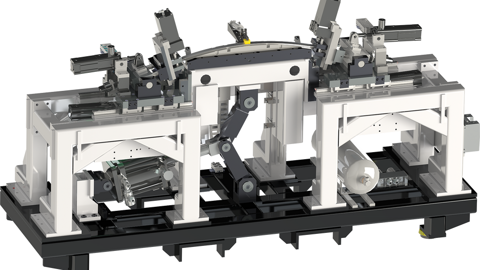 Pneumatically driven single-stretchbender