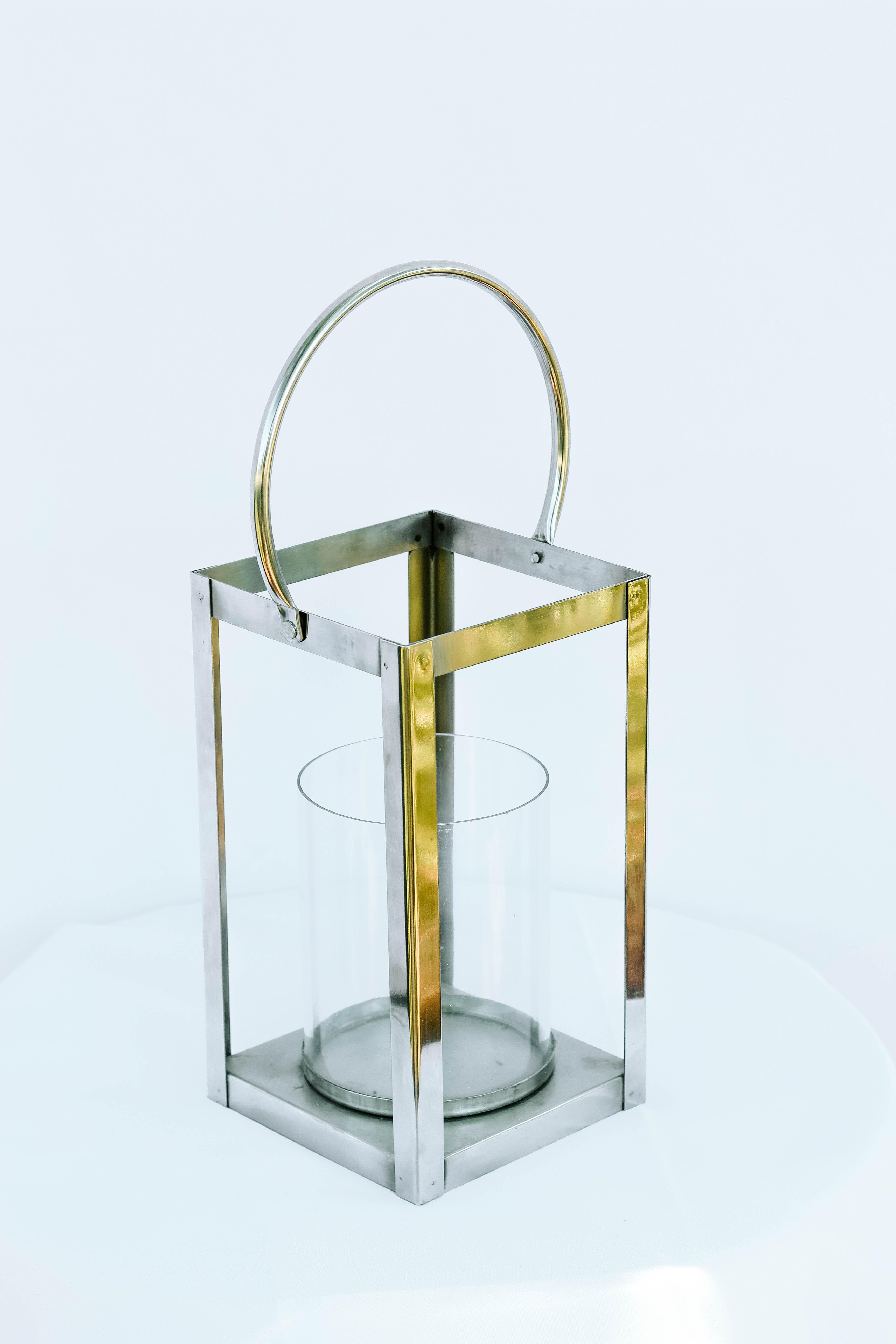 Silver Square Lantern
