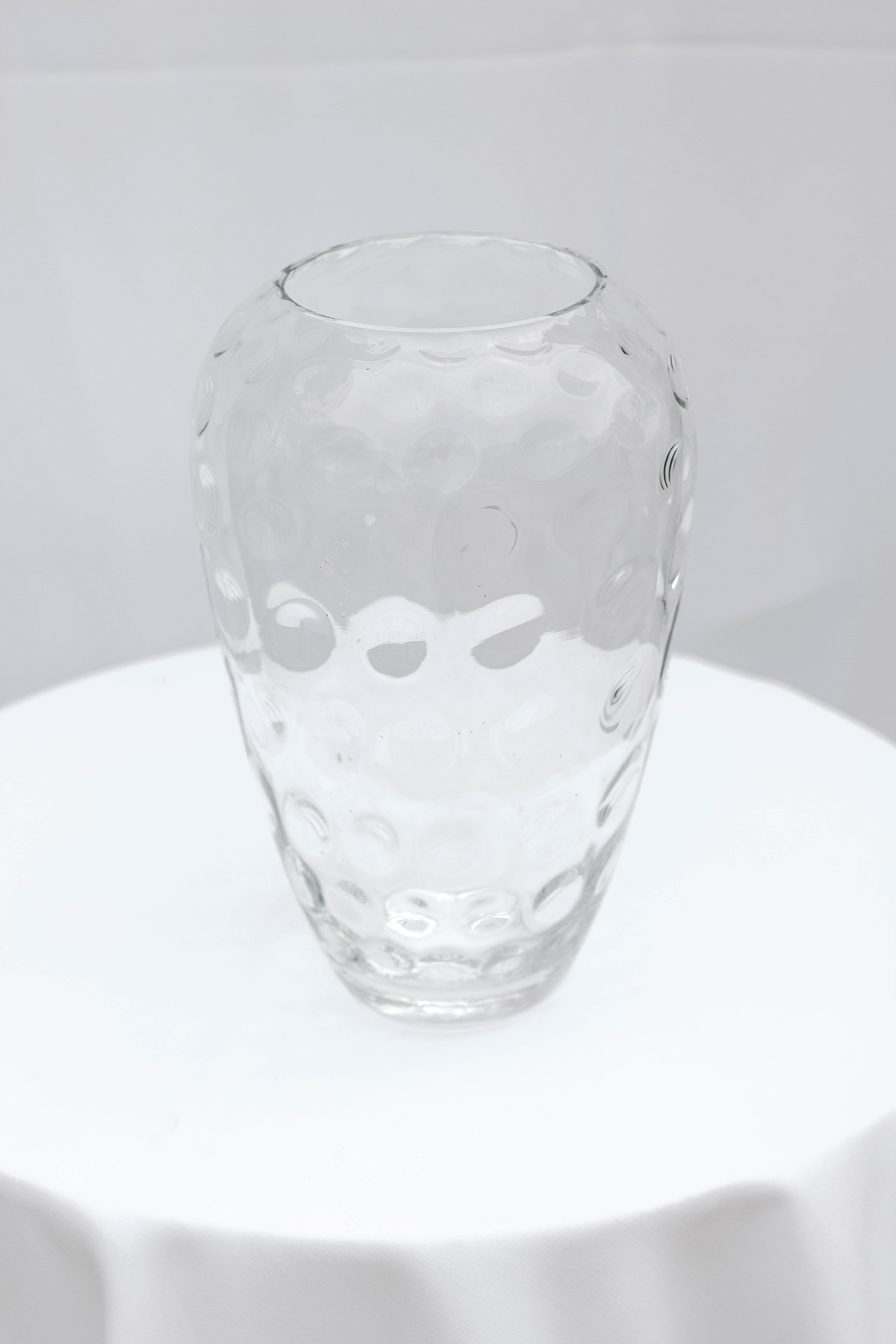 Clear Dotted Vase