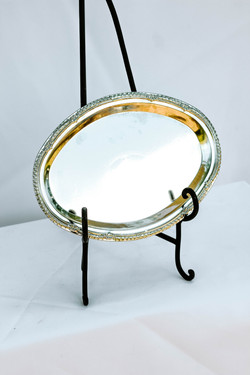 Small Metal Oval Serving Tray