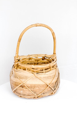 Mixed Brown Small Basket