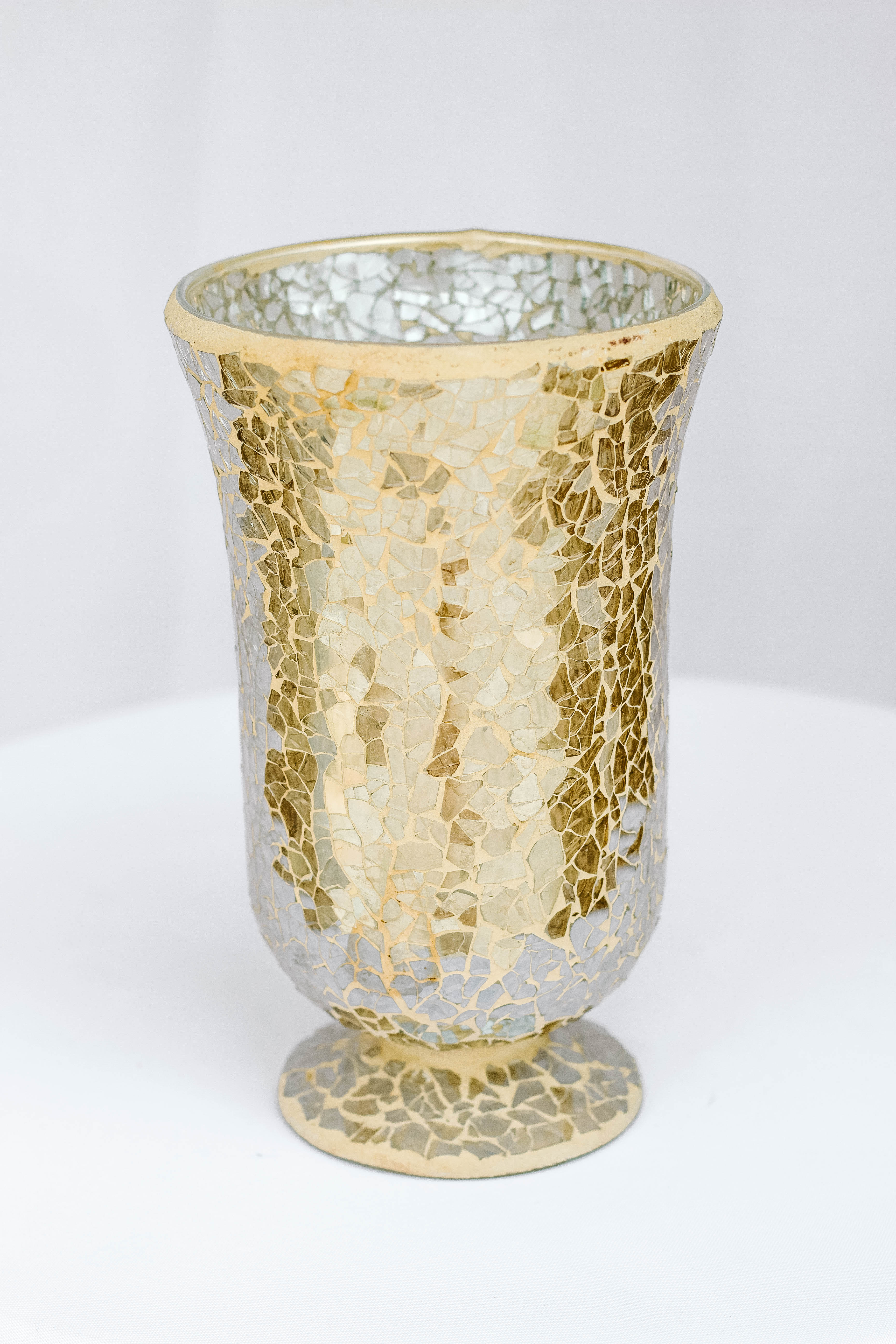 Shattered Glass Gold Vase