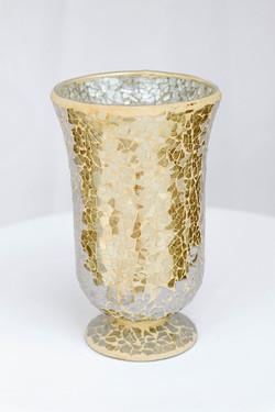 Shattered Glass Gold Vase