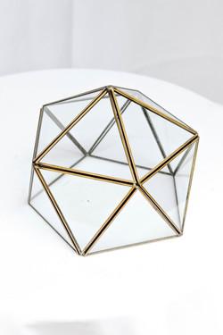 Octagon Glass Half Dome