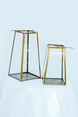 Bronze L&S Square Lantern