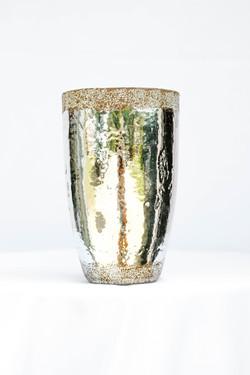 Grainy Brown Silver Vase