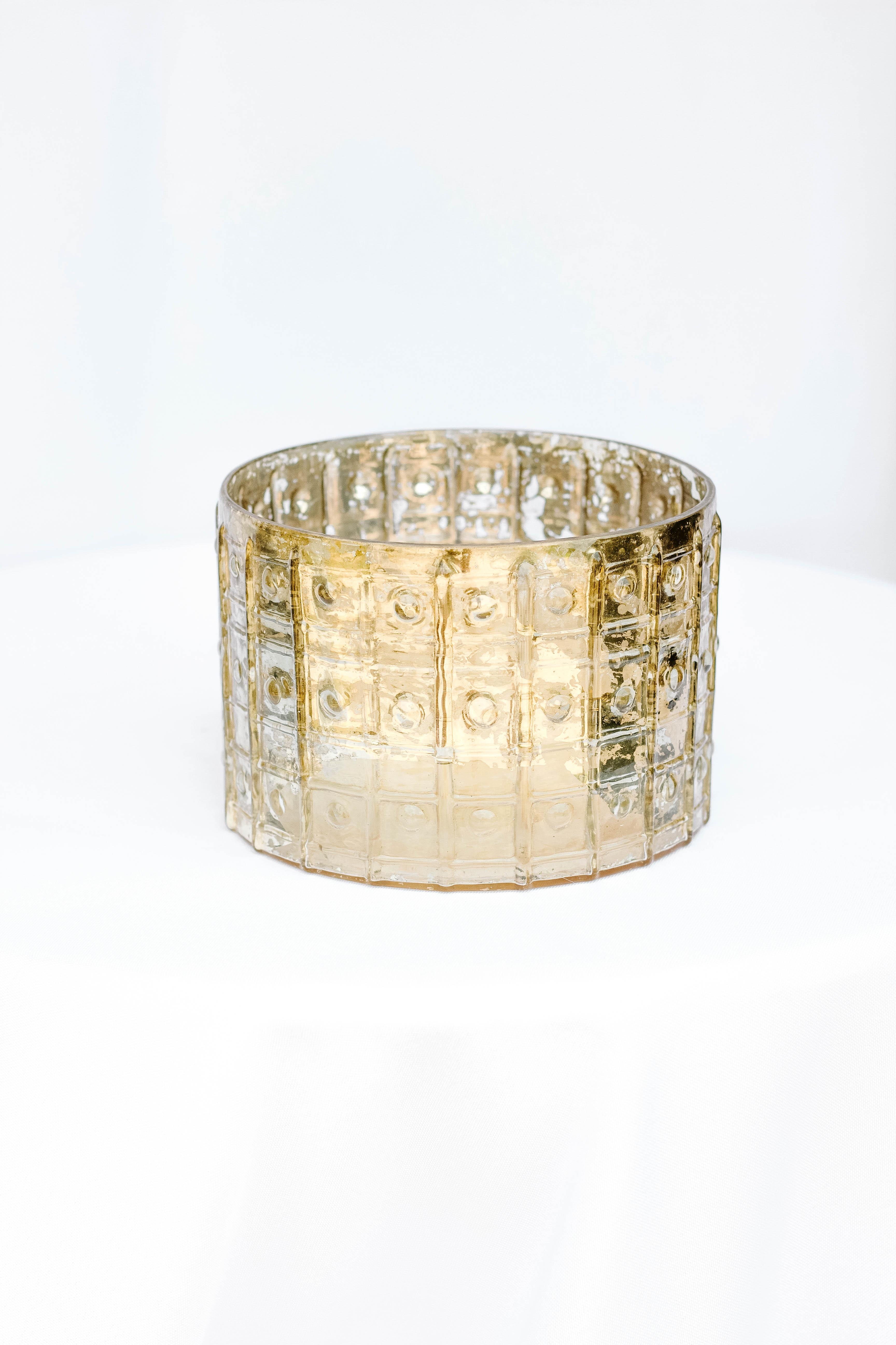 Studded Gold Round Vase