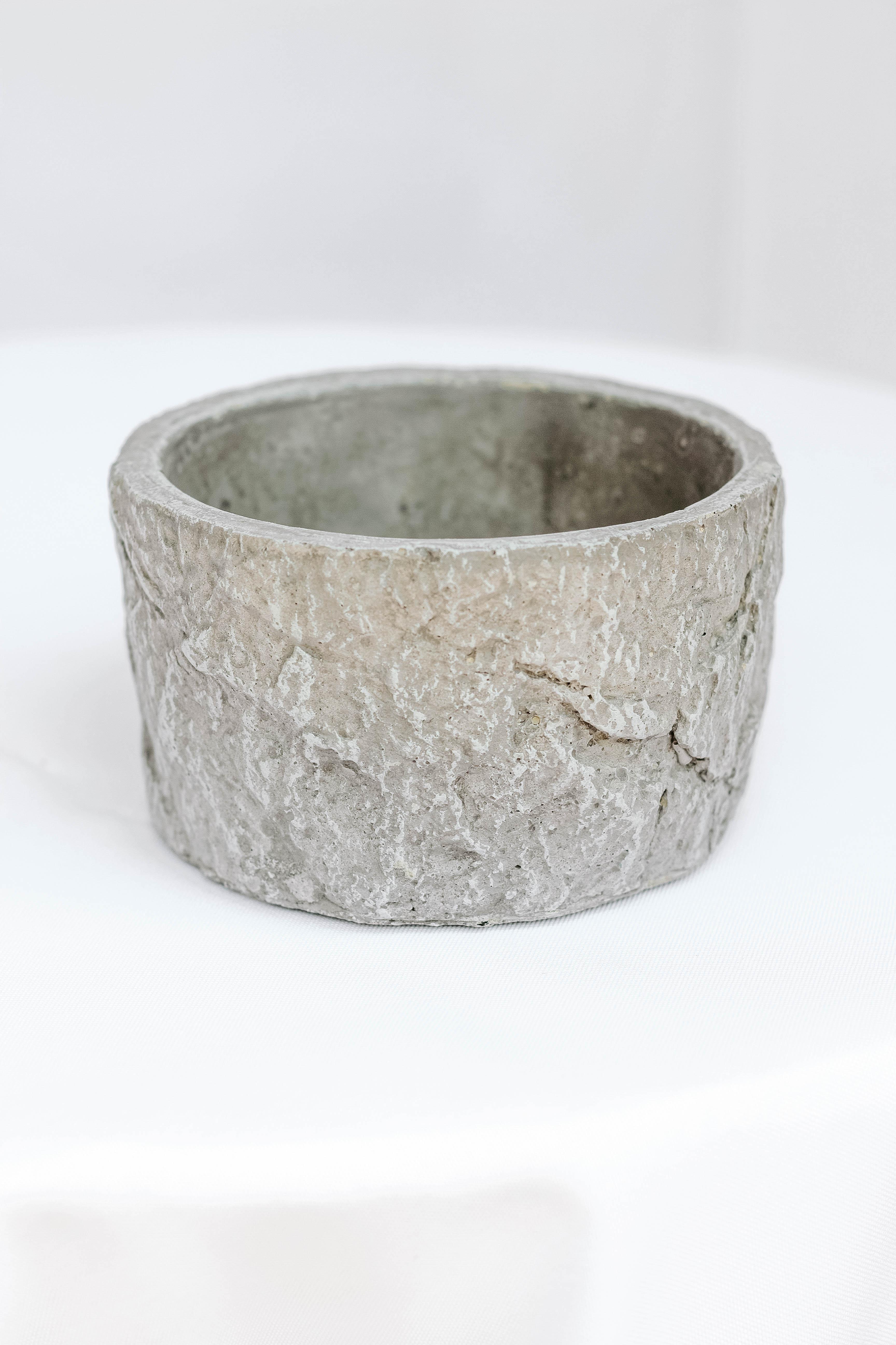 Grey Cement Vase