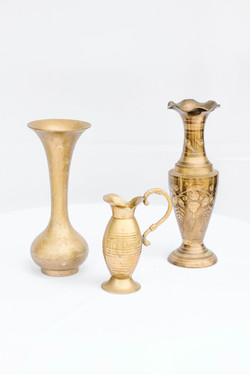 Mixed Gold Vases