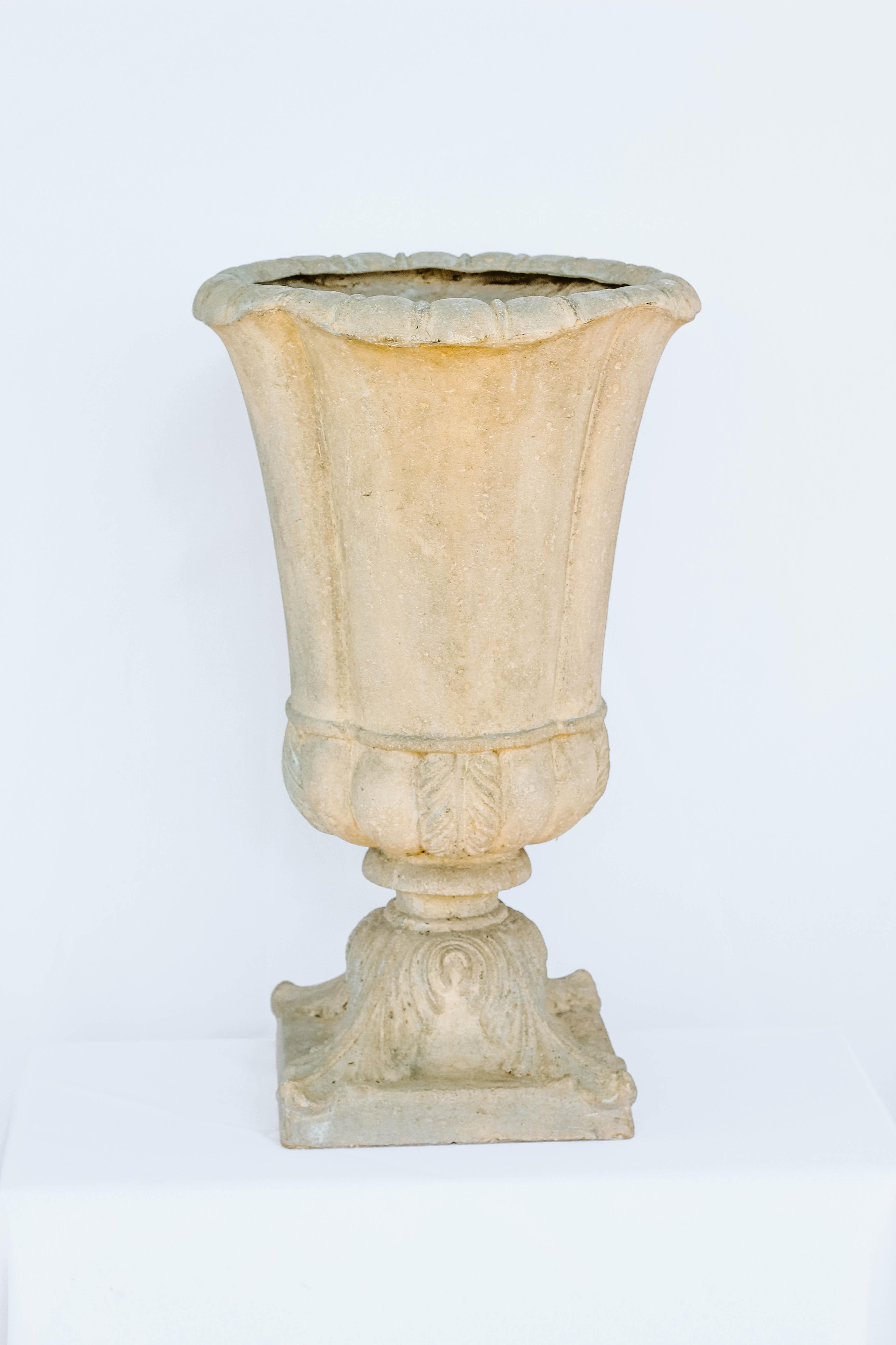 Tall Skinny Ivory Urn