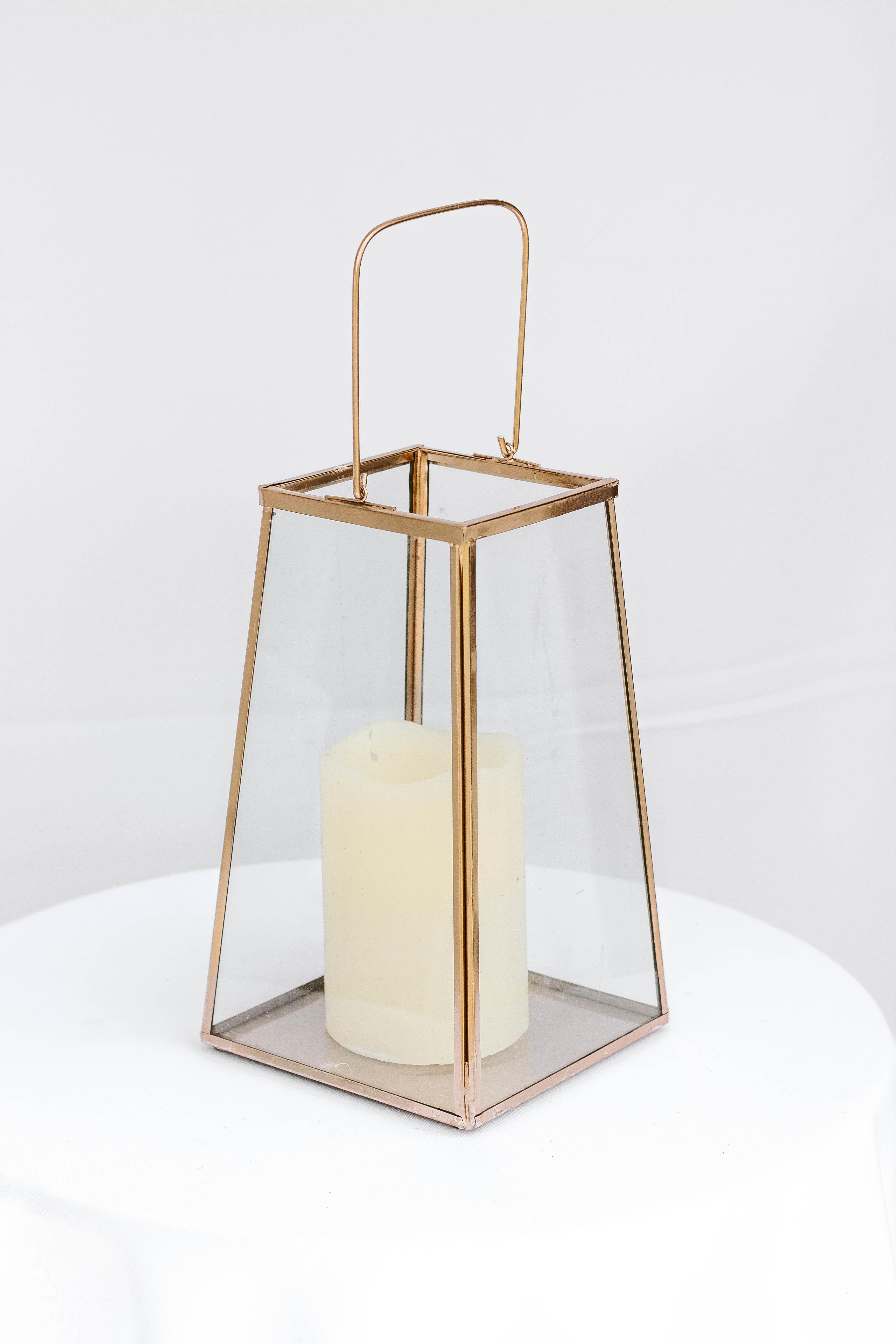 Bronze Square Lantern Small