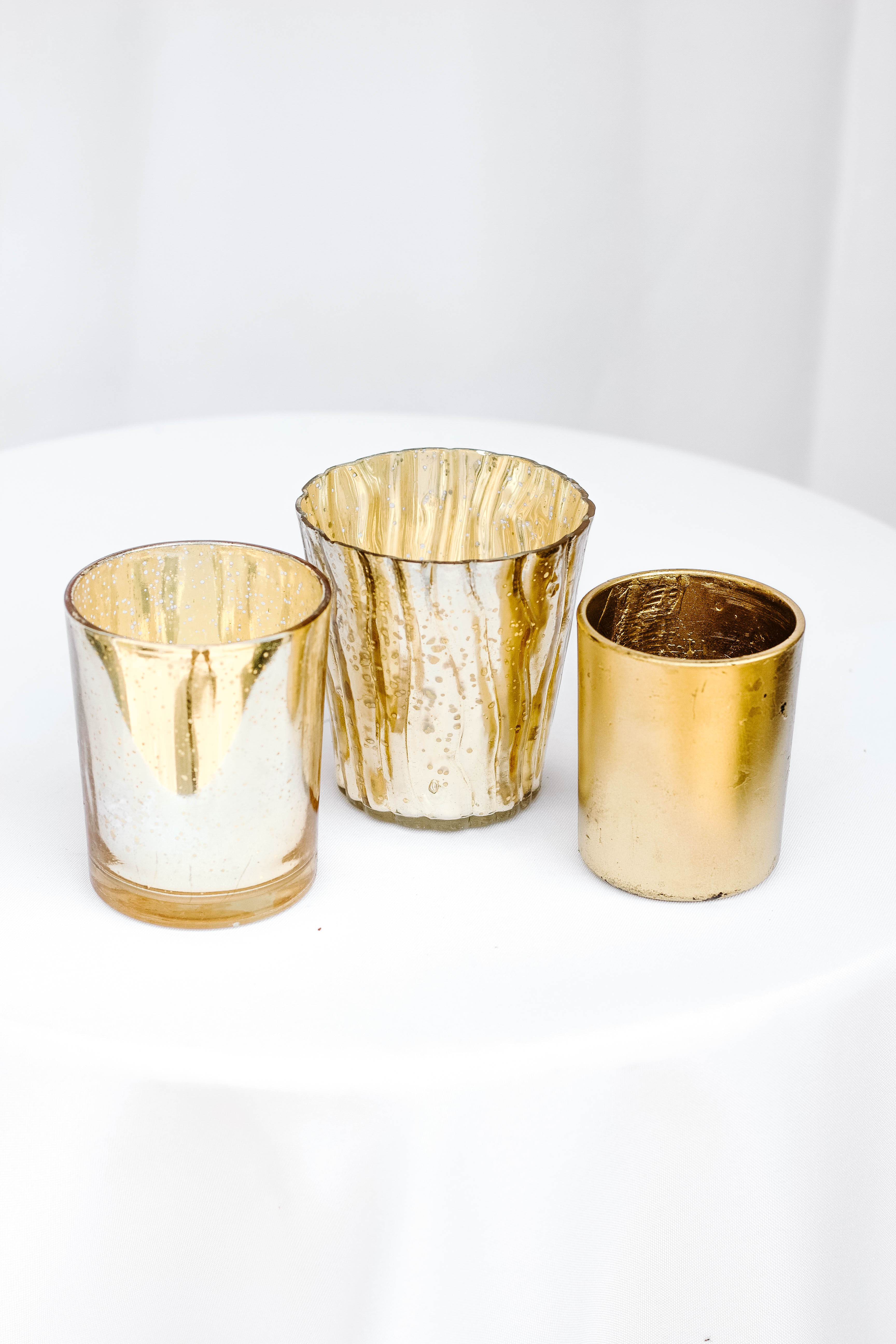 Mixed Small Gold Vases