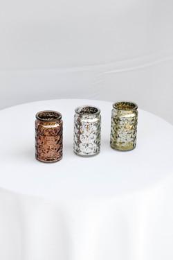 Copper, Silver, Gold Tall Votives