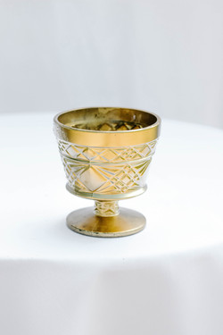 Gold Textured Compote
