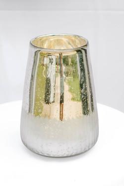 Speckled Silver Jug Vase