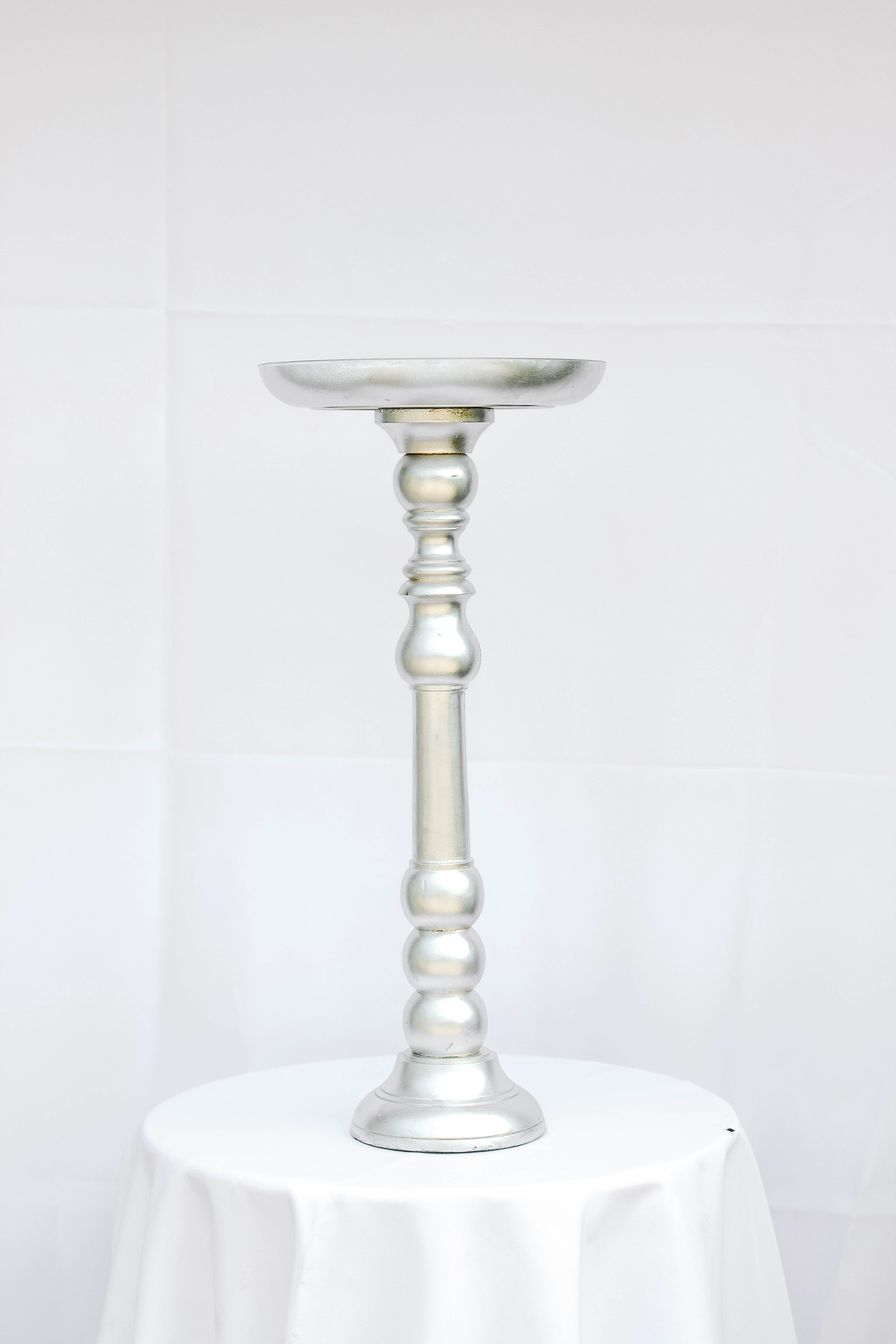 Silver Matte Pedestal
