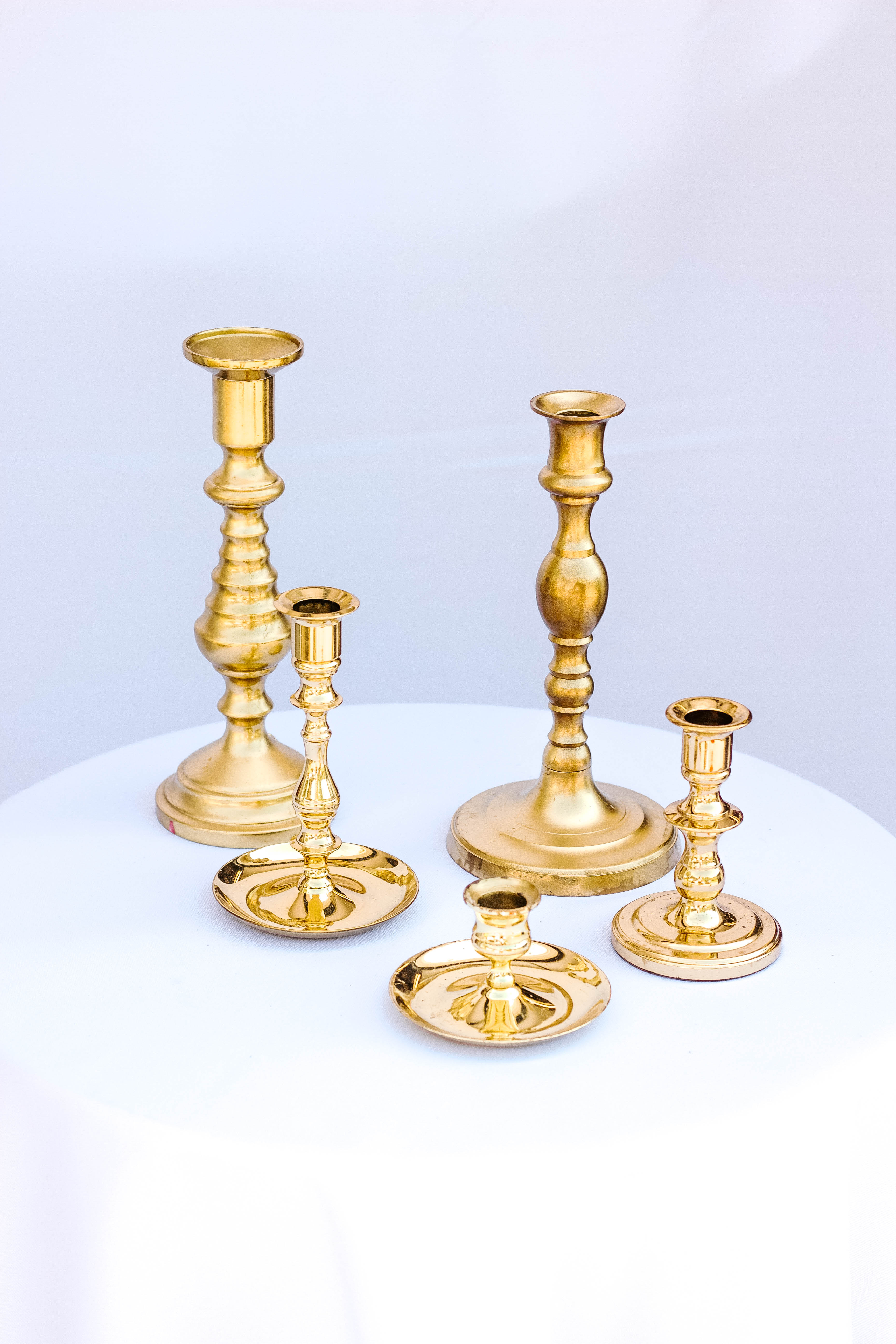 Gold Tapered Candlesticks