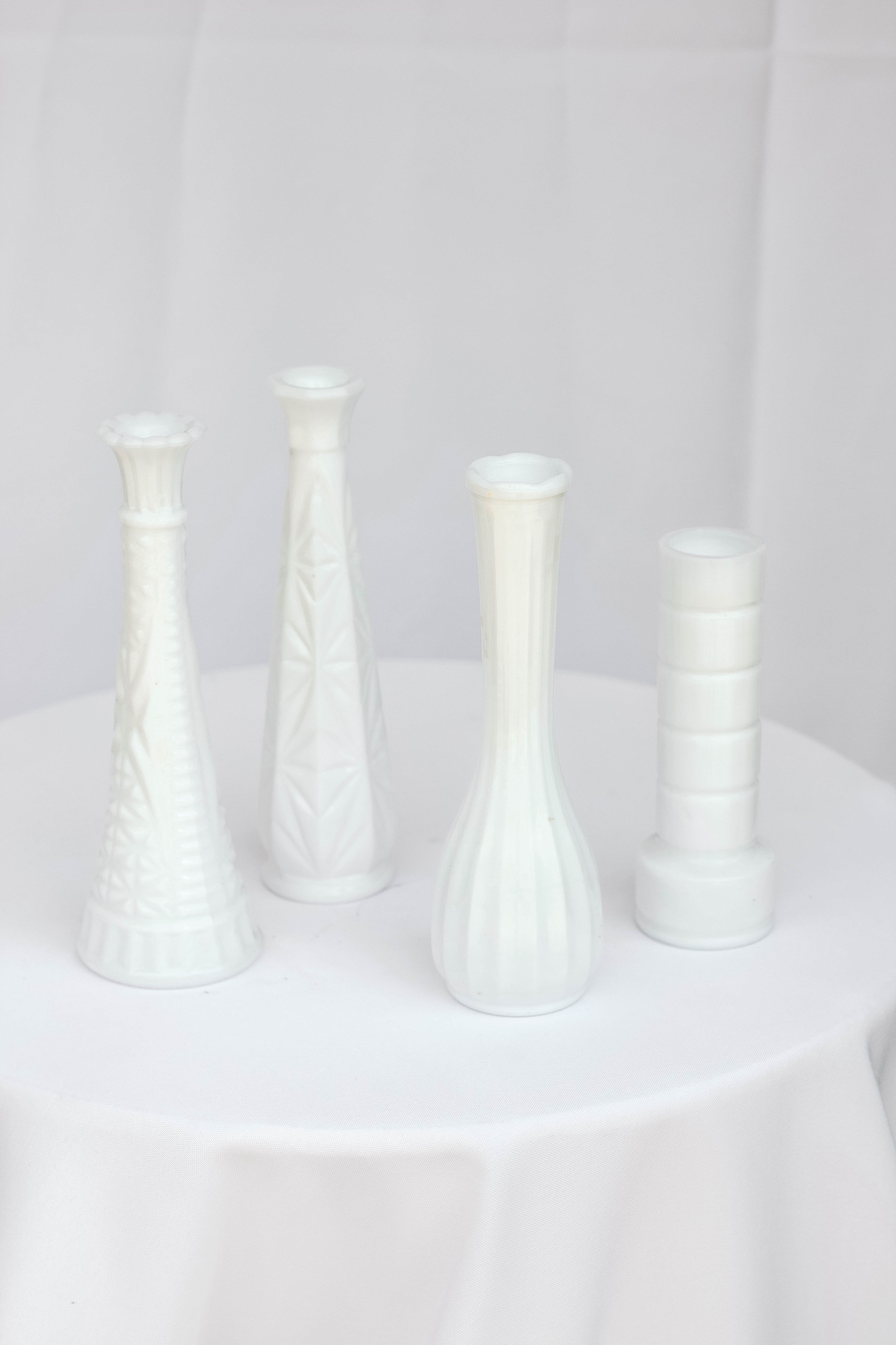Mixed Milk Vases