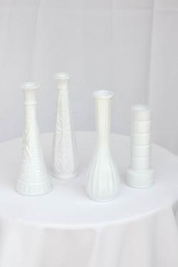Mixed Milk Vases