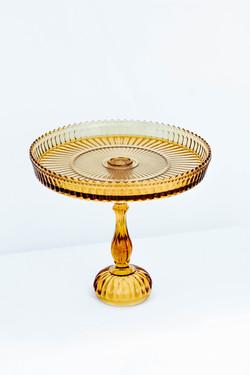 Yellow Glass Cake Stand