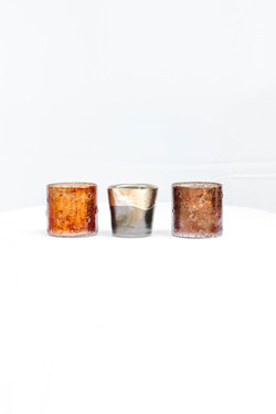 Copper and Dipped in Gold Votives