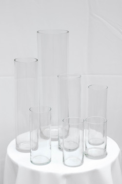 Clear Cylinder Vases 2XL-2XS