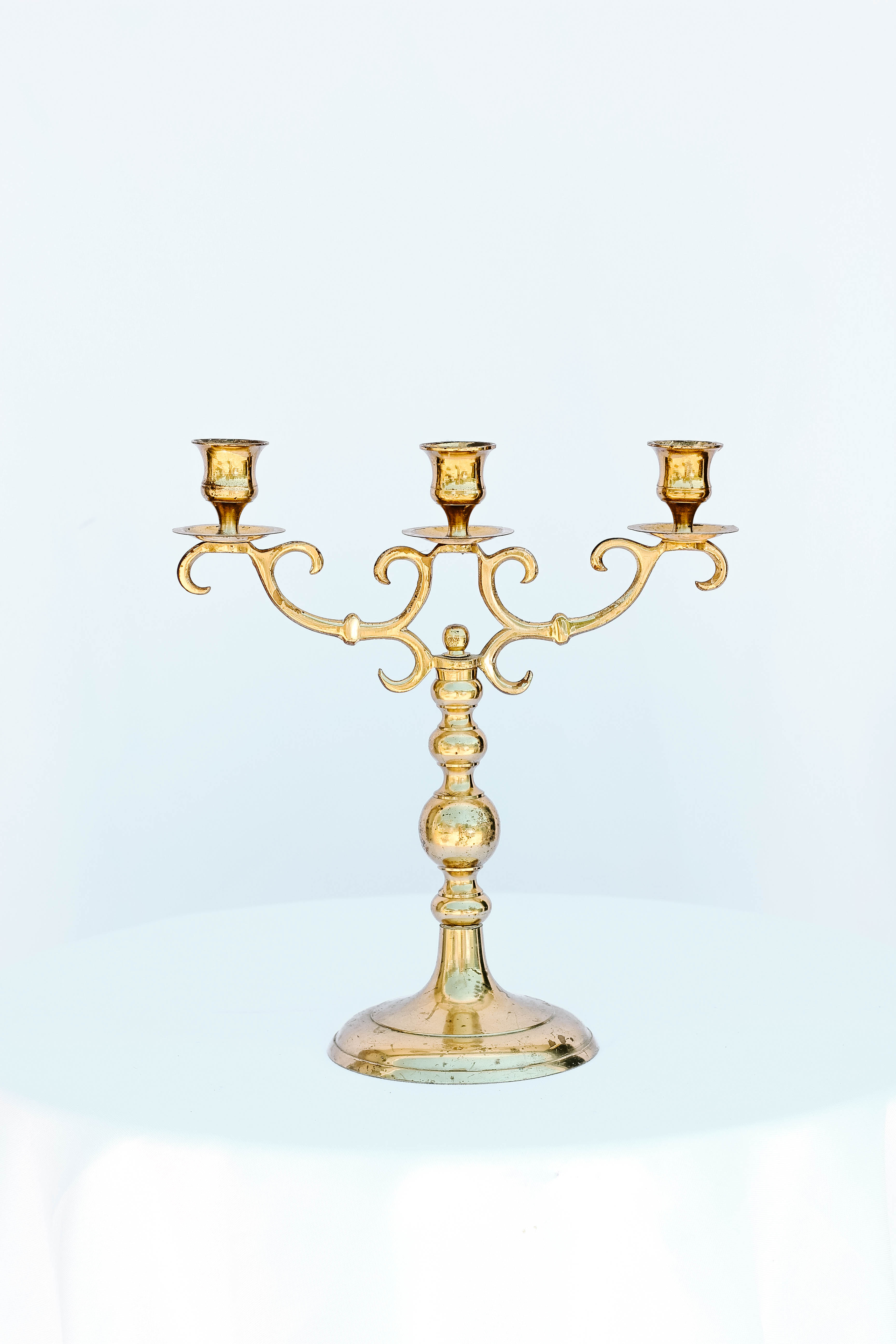 Small Gold Hooked Candelabra