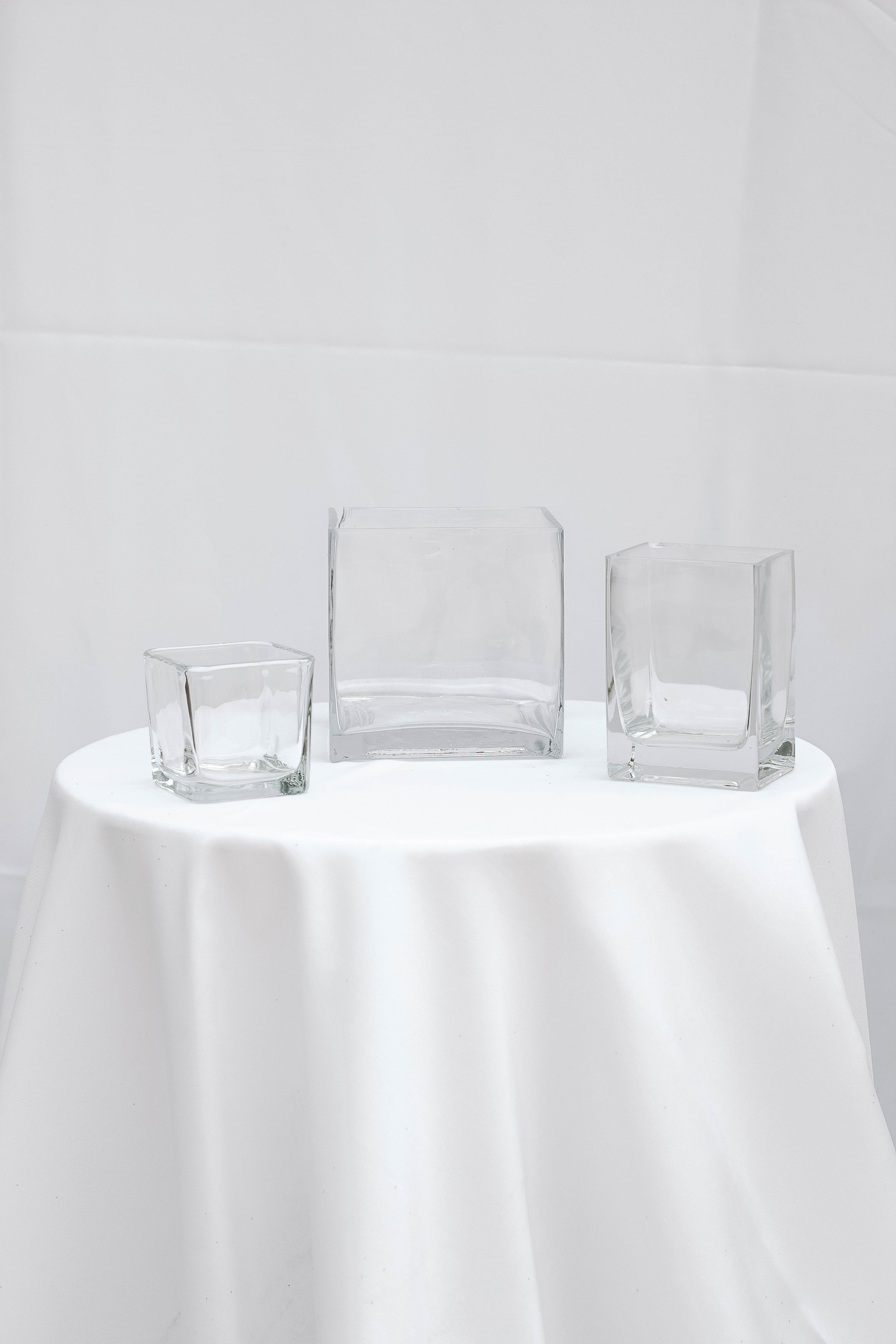Cube & Rectangular Clear Vase